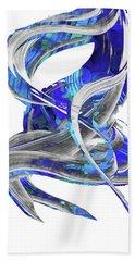 Blue And Gray Art - Flowing 3 - Sharon Cummings Beach Towel