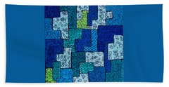 Beach Towel featuring the drawing Blue And Green Abstract 2 by Megan Walsh