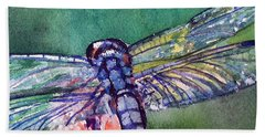 Blue And Green Dragonfly Beach Towel