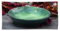 Blue And Green Shallow Bowl Beach Towel