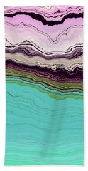Blue And Lavender Beach Towel
