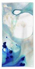 Blue And White Art - A Short Wave - Sharon Cummings Beach Towel by Sharon Cummings