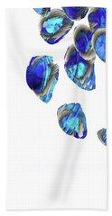 Blue And White Art - Falling 1 - Sharon Cummings Beach Towel