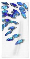 Blue And White Art - Falling 2 - Sharon Cummings Beach Towel