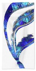 Blue And White Art - Flowing 1 - Sharon Cummings Beach Towel