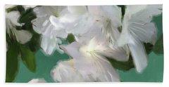 Blue And White Flower Art 3 Beach Sheet