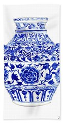 Blue And White Ginger Jar Chinoiserie 4 Beach Towel
