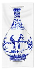 Blue And White Ginger Jar Chinoiserie 7 Beach Towel