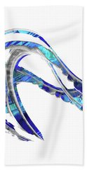 Blue And White Painting - Wave 2 - Sharon Cummings Beach Towel