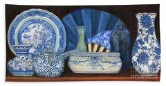 Blue And White Porcelain Ware Beach Sheet