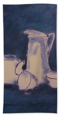 Blue And White. Still Life Beach Towel
