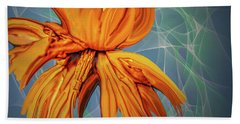 Beach Towel featuring the digital art Blue And Yellow #h6 by Leif Sohlman