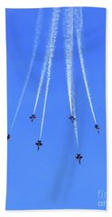 Blue Angel Aerobatics Beach Sheet
