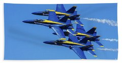 Blue Angels Very Close Formation 1 Beach Sheet