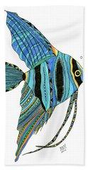 Blue Anglefish Beach Towel