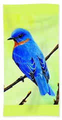 Blue Bird King Beach Towel