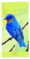 Blue Bird King Beach Towel