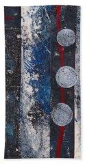 Blue Black Collage Beach Towel