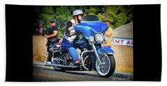 Blue Bling Rider Beach Sheet