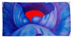 Blue Bloom Beach Sheet