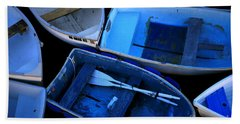Blue Boats Beach Towel
