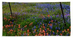 Beach Towel featuring the photograph Bluebonnets #0487 by Barbara Tristan