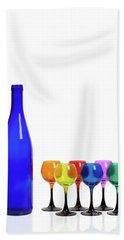 Blue Bottle #2429 Beach Towel