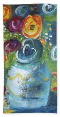 Blue Bouquet Beach Towel