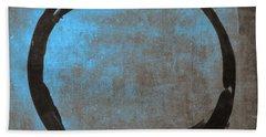 Blue Brown Enso Beach Towel