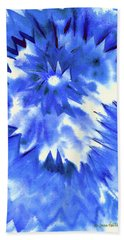 Beach Sheet featuring the painting Blue Burst by Joan Hartenstein