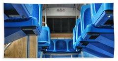 Blue Bus Seats Beach Sheet