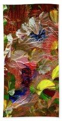 Blue Butterfly Jungle Beach Towel