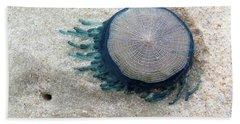Blue Button #2 Beach Sheet