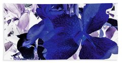 Beach Towel featuring the photograph Blue Canna Lily by Shawna Rowe