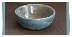Blue Ceramic Drippy Bowl Beach Sheet by Suzanne Gaff