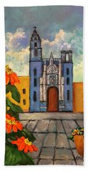 Blue Church   Iglesia Azul Beach Towel
