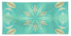 Beach Towel featuring the digital art Blue Coffee by Elizabeth Lock