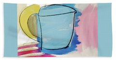 Blue Coffee Mug Beach Towel