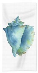 Blue Conch Shell Beach Towel