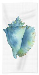 Blue Conch Shell Beach Sheet