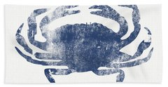 Blue Crab- Art By Linda Woods Beach Sheet by Linda Woods