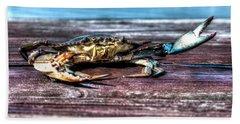 Blue Crab - Big Claws Beach Towel