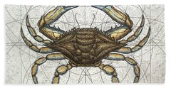 Blue Crab Beach Sheet by Charles Harden