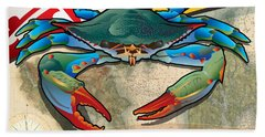Blue Crab Of Maryland Beach Towel