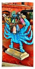 Blue Crab Beach Sheet