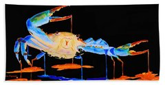 Blue Crab Two Beach Towel