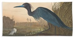 Blue Crane Or Heron Beach Towel