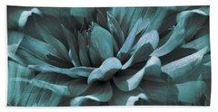 Blue Dahlia Dreams Beach Sheet