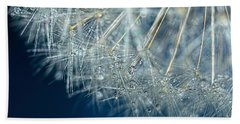 Blue Dandelion Dew By Kaye Menner Beach Sheet