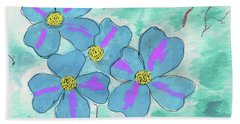Blue Beach Towel by David Jackson